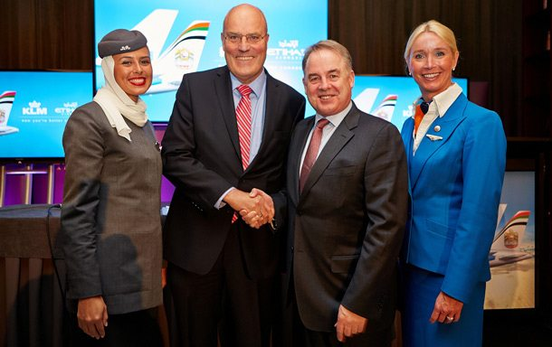 Codeshare-Partner Etihad Airways und KLM